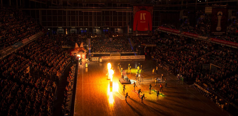 Handballspiel Feuer